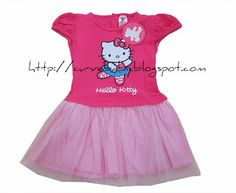 Hello Kitty Tutu Dress  Item Code: BC0009DR Item Color: Soft Pink, Dark Pink, White Item Size: M, L Age: 12-18 months, 18-24 months  Price: $14