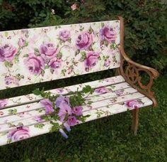 refurbished vintage bench......