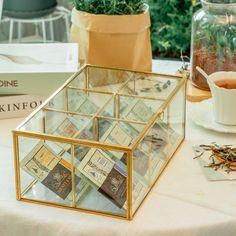 NCYP Glass Terrarium Box Tea Coffee Bag Storage Organizer image 0 Terrarium Containers, Glass Terrarium, Terrariums, Terrarium Ideas, Fern Flower, Flower Frame, Flower Pots, Jewelry Organization, Storage Organization