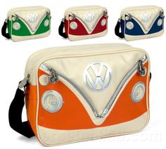 Volkswagen Shoulder Bag and more Interesting Gift Ideas at Perpetual Kid. A historical icon and success story since the VW Bus holds a fascination which h Volkswagen Bus, Vw T1 Camper, Vw Caravan, Volkswagen Transporter, Vw Beetle Cabrio, Vw Accessories, Combi Wv, Vw Beach, Your Boyfriend