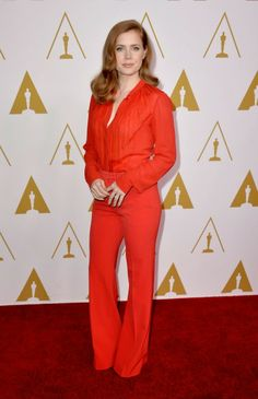 Amy Adams in an Elie Saab look at the 2014 Oscars Nominees Luncheon