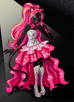 Give it up for CATTY NOIR! Happy Catty (c) The Monster High People. Monster High Art, Love Monster, Rochelle Goyle, Catty Noir, Freak Flag, Sailor Moon Crystal, Cartoon Styles, Cool Art, Fan Art