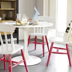 love the painted chairs by Apartment Therapy