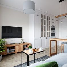 Home Tour Series: Dining & Room Kitchen layout Design Small Apartment Interior, Apartment Layout, Apartment Design, Living Room Interior, Home Living Room, Interior Livingroom, Kitchen Layout Interior, Home Interior Design, Kitchen Layouts