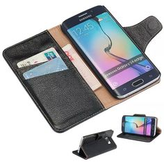 Find More Phone Bags & Cases Information about 100% Genuine Leather Luxury Phone Case for Samsung Galaxy S6 Edge High Quality Wallet Cover with Card Holders DLS24,High Quality case holder,China case f Suppliers, Cheap case chevrolet from Just Only on Aliexpress.com