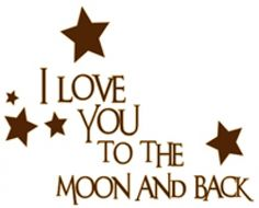 I love you - Brown (1013-2) - Wall Word Designs Stickers - A high quality adhesive backed vinyl, easy to apply and removable – ideal for the nursery or bedroom of someone precious to you. Supplied in brown.