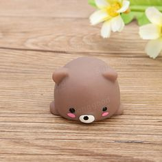 Bear Mochi Squeeze Squishy Cute Healing Toy Kawaii Collection Stress Reliever Gift Decor