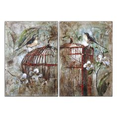 Birds In A Cage I, II, S/2