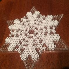 Snowflake hama beads by  iannel82 - Would be awesome with glow in the dark.