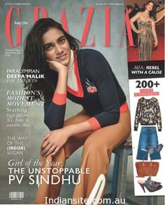 Girl of the Year : THE UNSTOPPABLE PV SINDHU!. Photo Shoot With Grazia India - Indiansite