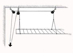 Since Warm Air Rises, This Suspended Drying Rack Is Designed To Take Advantage Of That By Elevating Clothes Up To The Ceiling Drying Rack Laundry, Clothes Drying Racks, Clothes Dryer, Clothes Hanger, Hanging Clothes Racks, Hanging Drying Rack, Drying Room, Pulley, Home Organization