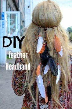 DIY featrher headband // TytDIY Diy Fashion, Boho Chic