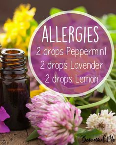 Spring or fall allergies getting you down? Here's a simple essential oil blend for your diffuser (you can also mix it with a carrier oil in a roller bottle to use topically). Click on the image for more simple recipes for your diffuser.