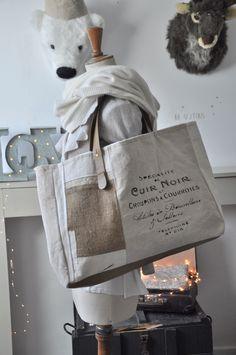 """sac inscriptions """"cuir noir"""""""