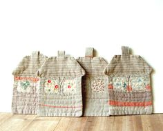 Fabric Coasters set of 4 linen houses