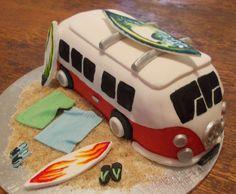 hippie-surfer van cake made by lerrin@sweetart
