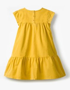 Pretty Cord Dress Casual dresses at floor - Flower Girl Dresses, Frocks For Girls, Little Girl Dresses, Girls Dresses, Kids Frocks Design, Baby Frocks Designs, Baby Girl Dress Patterns, Baby Dress Design, Kids Fashion, 2000s Fashion