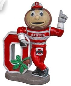 "Ohio State ""Brutus"" College Mascot By Henri Studio  This statue can be purchased at www.apollostatuary.com"