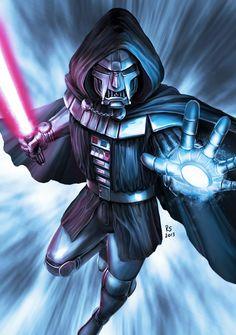 Star Wars meets Marvel - Darth Doom by Robert-Shane.deviantart.com on @deviantART