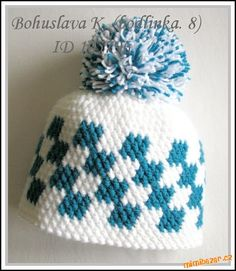 Jelikož návody psát bohužel neumím, napíši alespoň zjednodušený popis vzorečku...:-)<br><br>Je to ce... Cool Baby Stuff, Winter Hats, Crochet Hats, Beanie, Fun, Fashion, Crochet Cap, Tricot, Caps Hats