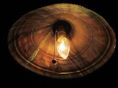 Copper Funnel Lamp on Etsy, $125.00