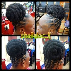Barrel updo....#locstylist #locstyles #dreadstagram #dreadstyles #shellydidthat #dreads #dreadhead #naturalhair #womenwithlocs #womenwithdreads #brooklynlocstylist #loctician #locs #dreadz #locupdo #loctwist #locstylesforwomen #dreadstylesforwomen #shellyloc_t #naturalhairstyles #barrellocs #locbarrels