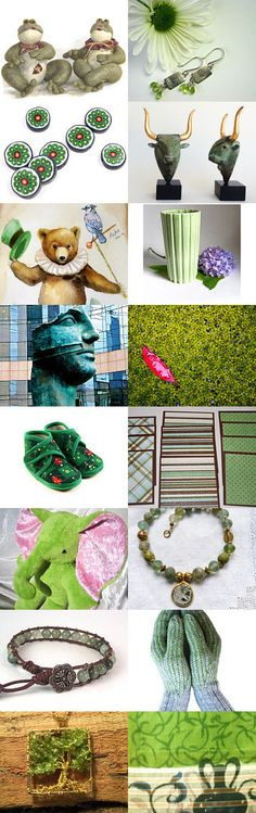 green  by mira (pinki) krispil on Etsy--Pinned with TreasuryPin.com
