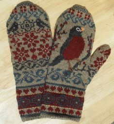 April Mystery mittens, designed by Julie Hamilton, knit by Pat, Pat's Knitting and Quilting.