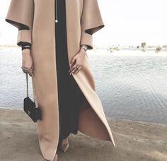 hijab, hijab fashion, and abaya resmi Abaya Fashion, Muslim Fashion, Modest Fashion, Fashion Dresses, Modest Wear, Modest Outfits, Iranian Women Fashion, Womens Fashion, Modele Hijab