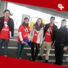 Sammelaktion für Wiedergutmachungsinitiative beim Escherwyssplatz in Zürich #wiedergutmachen