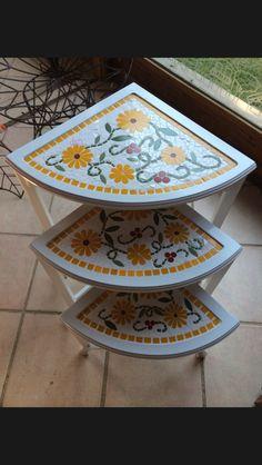 Mesas de canto - mosaico