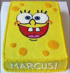 Simple yet classy Spongebob square pants cake.