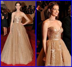 - Sequin Ruched Sash Dazzling Sweetheart Anne Hathaway Celebrity Dresses