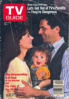 """Mel Harris, Brittany Craven and Ken Olin of """"thirtysomething"""" on the cover of TV Guide - June 11, 1988"""