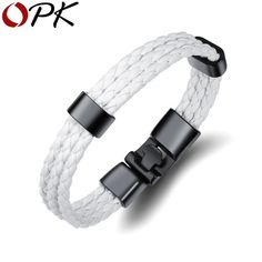 2274787bb Vintage Leather Bracelet's Bangle's For Men Multiple Charm Wri'stBands  Bracelet's Braided Rope Fashion Male