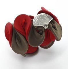 Unique Bracelet Adaptable Sculptured Sterling Silver by eninaj
