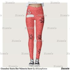 Cinnabar Santa Hat Valencia Snow Leggings