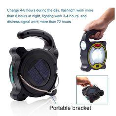 Lampe de poche LED multifonctionnelle Lampe de camping solaire portable Lampe