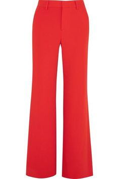 Alice Olivia - Paulette Crepe Wide-leg Pants - Red - US0