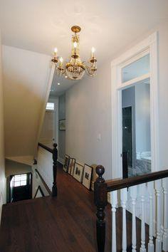 Trinity Bellwoods House - Design Spec Building Group #hallwaylighting #vintagelighting #chandelier #crystalchandelier