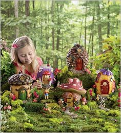 Enchanted Miniature Fairy Gardens with Houses...Where Fantasy Goes Real !!