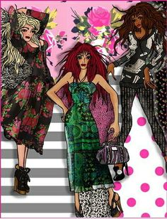 Betsey Johnson Illustrations