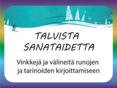 Talvista sanataidetta – välineitä runojen ja tarinoiden luomiseen yhdessä Occupational Therapy, Speech Therapy, Bullet Journal Aesthetic, A Classroom, Social Platform, In Kindergarten, Language, Parenting, How To Get