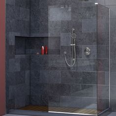 Linea Frameless Shower Door 30 In X 72 Open Entry Design Doors And