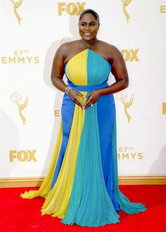 Danielle Brooks at the Annual Emmy Awards Orange Is The New Black, Danielle Brooks, The Emmys, Blue Dresses, Formal Dresses, Pose For The Camera, Curvy Fashion, What To Wear, Celebrities