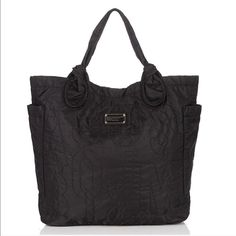 Marc By Marc Jacobs Large Black Nylon Tote