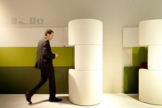 .funky little pop-up meeting spaces