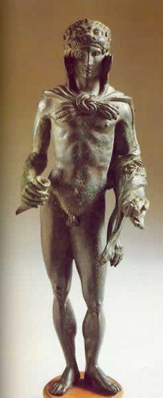 HERCLE, dio etrusco delle greggi e delle sorgenti