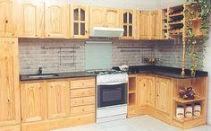 cocina mueble de pino