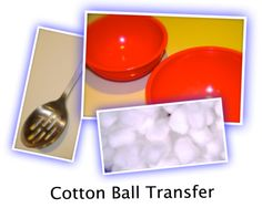 COTTON BALL TRANSFER: This is such a funny party game, everyone will be laughing and taunting in no time.  It works well for all ages, from 7 years up to 70.  TOP...